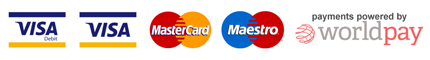 Accepted payment methods: VISA, VISA Debit, MasterCard and Maestro